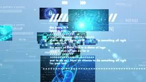 科技图片汇聚logo文字AE模板