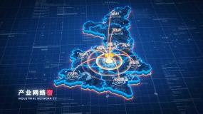 原创【陕西】地图辐射AE模板AE模板
