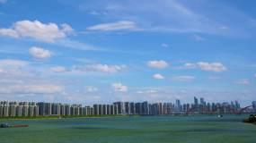 4K长沙湘江城市延时空镜视频素材