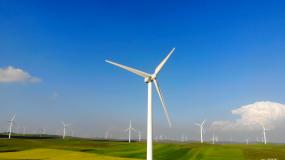草原大型风电场视频素材