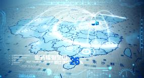 地图区位北京辐射全国AE模板AE模板