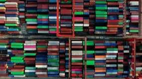 中山港货运客运码头视频素材