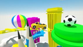 卡通儿童娱乐类益智类学生学习少儿节目片头C4D工程