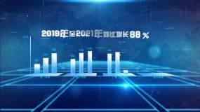 科技企业数据—蓝色版本AE模板