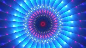音符圆环万花筒射线蓝色背景视频素材