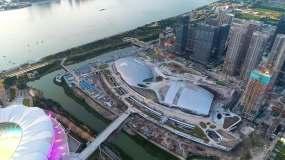 杭州亚运会游泳馆体育馆视频素材