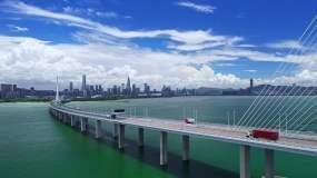 深圳湾大桥视频素材