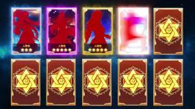 游戏抽卡展示模板AE模板