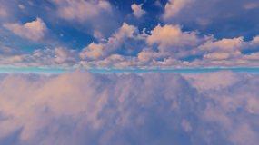 大气天空云延时03视频素材