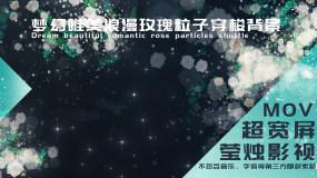 【大屏】梦幻唯美浪漫玫瑰粒子穿梭背景视频素材