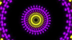 4组圆环光点vj素材可视化效果视频素材包