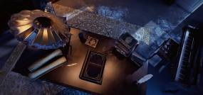 民国办公桌古书视频素材