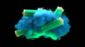 冰屏素材电池云视频素材