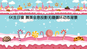 6k甜品至上-生日快乐全息投影视频素材