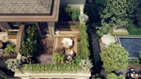 三维镜头联排别墅视频素材