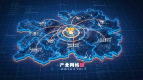 原创【贵州】地图辐射AE模板出AE模板