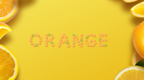 ins水果卡通英文文字动画模版AE模板