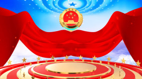 震撼党政中国人民检察院片头视频视频素材