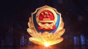 公安警徽片头AE模板