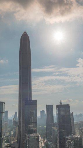深圳平安大厦延时、日转夜延时竖版视频素材