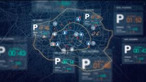 未来城市-科技生活-智慧交通-智慧小区视频素材