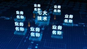 大气震撼科技数据结构分类AE模板