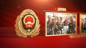 武警图文展示发展历程ae模板AE模板