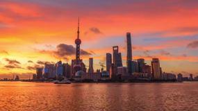 上海陆家嘴日出延时视频素材