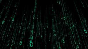大数据云计算数字代码仰视下落冲屏视频素材