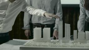 原创地产模型地产设计设计师楼盘视频素材