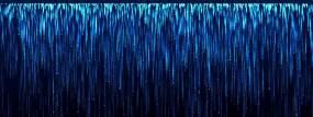 8K蓝色星幕粒子瀑布宽屏舞台背景视频素材包