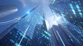 科技大楼-科技城市物联网-信息化城市视频素材
