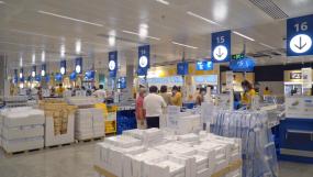 4K宜家商场购物人群-家居商场-青岛宜家视频素材