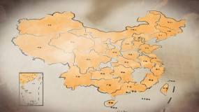 水墨中国地图AE模板