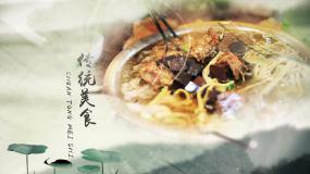 水墨文化美食片头AE模板