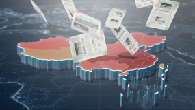 疫情胜利新闻报纸地图(含视频)AE模板