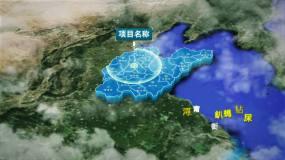 原创科技山东省地图AE模板AE模板
