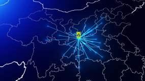 西安辐射全国(高清视频)视频素材
