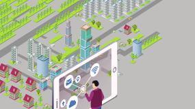 互联网手机城市智慧城市现代化智AE模板