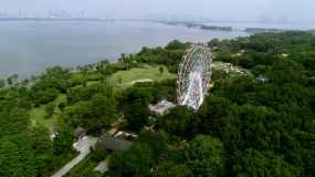 【原创4K】武汉东湖之眼摩天轮武绿道视频素材