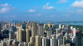 武昌区航拍大景内环地区视频素材