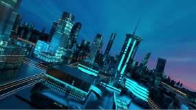 智慧城市栏目C4D工程