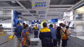4K商场人群-购物人群-大型商场超市视频素材