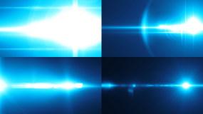 原创4K蓝色转场光效8款视频素材包