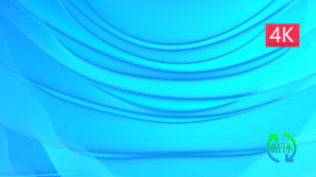 干净蓝色波浪背景4组视频素材包