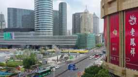 航拍徐州市百货大楼拆除视频素材