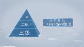 商务简洁三级金字塔组织结构AE模板
