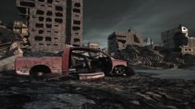 原创制作废弃城市地震后废墟视频素材