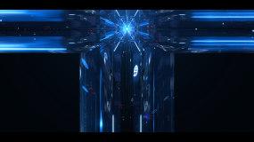 CAVE空间科技隧道穿梭视频素材