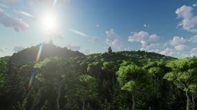 树林山脉春夏秋冬四季变化视频素材